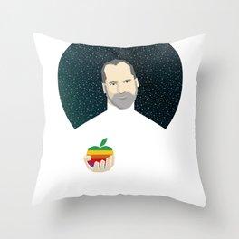 Steven Jobs / Apple Throw Pillow
