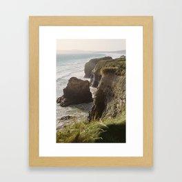 Cliff & Pillar Framed Art Print