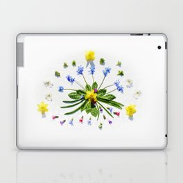 Spring flowers and branches II Laptop & iPad Skin