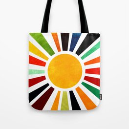 Sun Retro Art Tote Bag