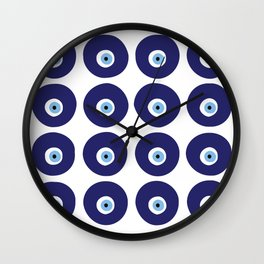 GREEK EYE XÔ OLHO GORDO Wall Clock