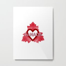 Home Sweet Canada Metal Print