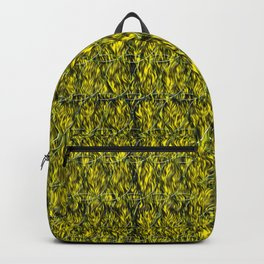 Abstract circles with yellow and green background Backpack
