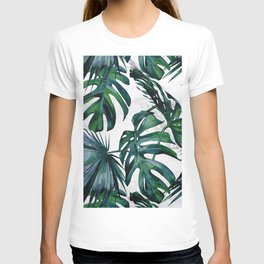 Tropical Palm Leaves Classic on Marble T-shirt