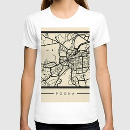 Abstract City Map - Pune India T-shirt