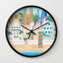 Barcelona city Wall Clock