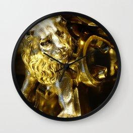 Gold Lion Wall Clock