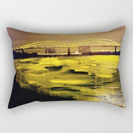 Memphis Skyline at Night Rectangular Pillow