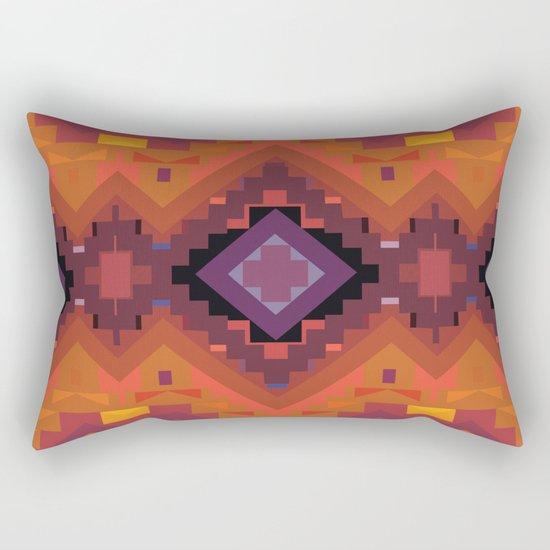 American Native Pattern No. 35 Rectangular Pillow