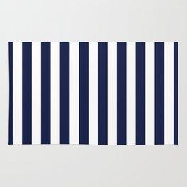 Stripe Vertical Navy Blue Rug