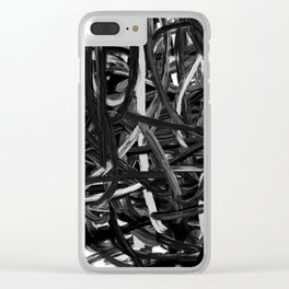 Black & White Abstract III Clear iPhone Case