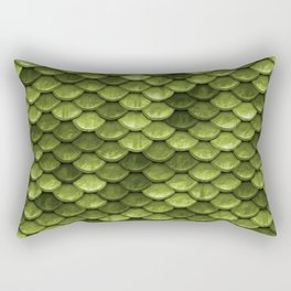 Mermaid Scales | Green with Envy Rectangular Pillow