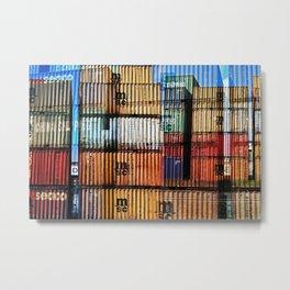 Hamburg Harbour xxvIII Metal Print