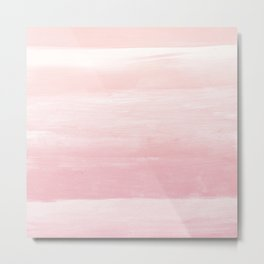 Blush Watercolor Abstract Minimalism #1 #minimal #painting #decor #art #society6 Metal Print