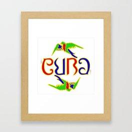 """""""CUBA"""" INVERTIBLE Framed Art Print"""