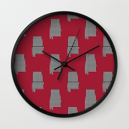 Bama crimson tide college state pattern print university of alabama varsity alumni gifts Wall Clock