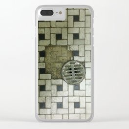 Bathroom Floor Clear iPhone Case