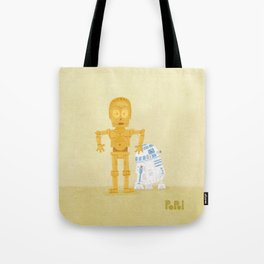 C3PO and R2D2 Tote Bag