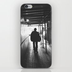 lonely guy silhouette iPhone & iPod Skin
