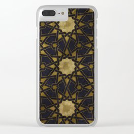 Islamic decorative pattern with golden artistic texture Clear iPhone Case