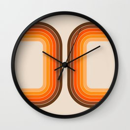 Tan Tunnel Wall Clock