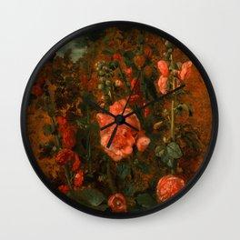 "John Constable ""Study of Hollyhocks"" Wall Clock"