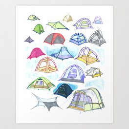 tents from a mountain vagary Art Print