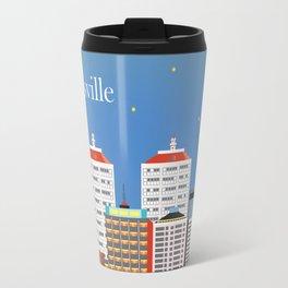 Louisville, Kentucky - Skyline Illustration by Loose Petals Travel Mug