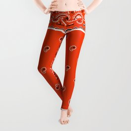 Classic Orange Bandana Leggings