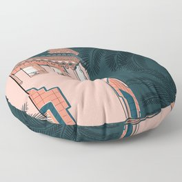 Where I'd Rather Be- Night time Floor Pillow