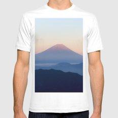 Mt. Fuji, Japan White MEDIUM Mens Fitted Tee