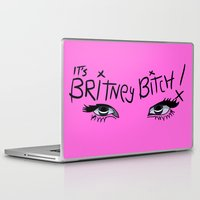 britney Laptop & iPad Skins featuring Britney Spears Eyes by Alli Vanes