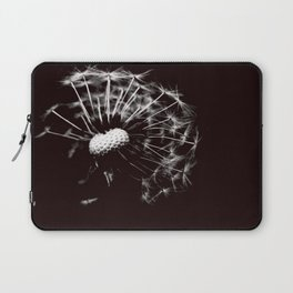 Dandelion Black & White Laptop Sleeve