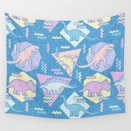 Nineties Dinosaurs Pattern  - Pastel version Wall Tapestry
