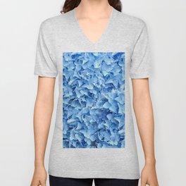 BABY BLUE HYDRANGEAS FLORAL ART Unisex V-Neck