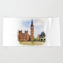London Calling Beach Towel