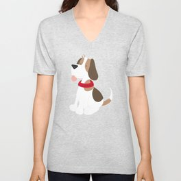 Beagle Love Beagle Sticking Out Tongue Unisex V-Neck