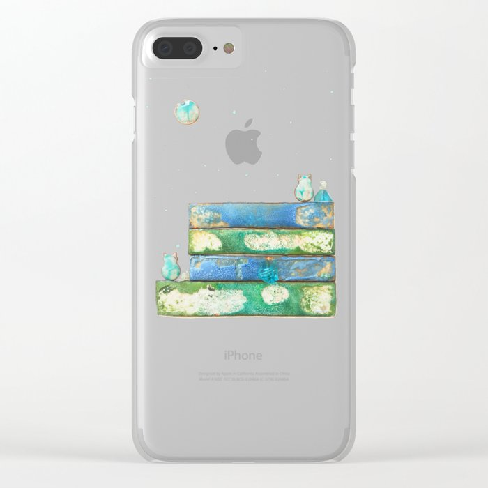 Alley Cats and the Blue Moon Clear iPhone Case