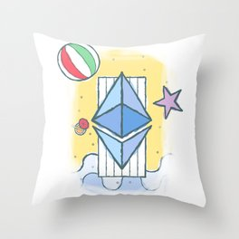 ETH #worthit Throw Pillow