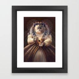 Cat Queen Framed Art Print