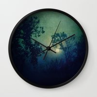 howl Wall Clocks featuring Howl by Slight Clutter