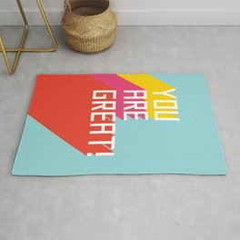 You Are Great! Rug