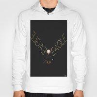 eagle Hoodies featuring Eagle by Joe Ganech