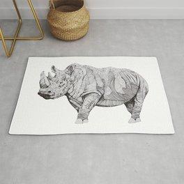 Northern White Rhino Rug