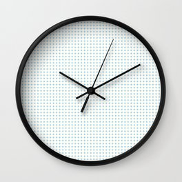 Yellow Blue Cell Checks Wall Clock