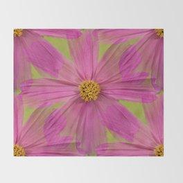 Endless Pink Cosmos Throw Blanket