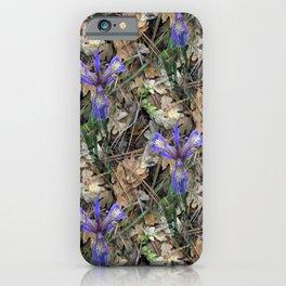 Wild Irises in the woods.... iPhone Case