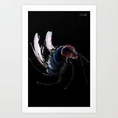 I wanna be free like a fly colors logo blanc urban fashion culture Jacob's 1968 Paris Agency Art Print