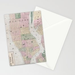 Vintage Map of New York City (1873) Stationery Cards