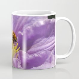 Honey Bee on a Clematis Flower Coffee Mug